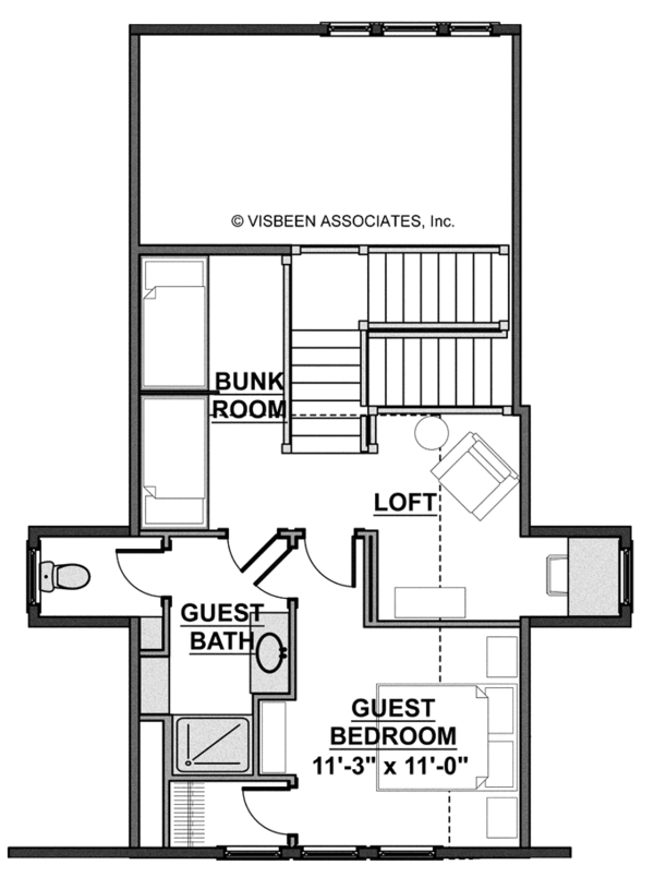 Craftsman Floor Plan - Upper Floor Plan Plan #928-268