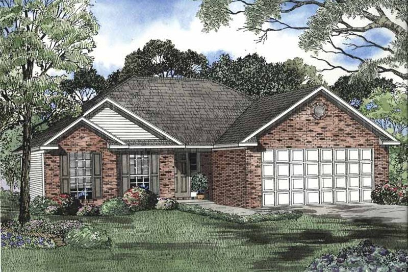 Ranch Exterior - Front Elevation Plan #17-2938 - Houseplans.com