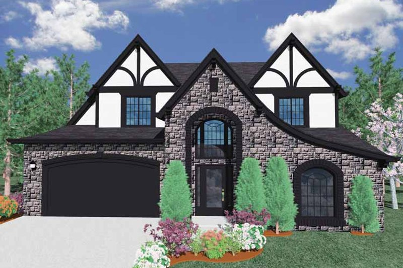 Traditional Exterior - Front Elevation Plan #509-290 - Houseplans.com