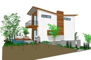 Modern Style House Plan - 3 Beds 3 Baths 1505 Sq/Ft Plan #484-3 Exterior - Front Elevation