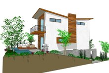 Dream House Plan - Modern Exterior - Front Elevation Plan #484-3