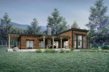 Contemporary Exterior - Rear Elevation Plan #924-1
