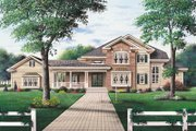 Traditional Style House Plan - 4 Beds 3.5 Baths 3115 Sq/Ft Plan #23-2005 Exterior - Front Elevation