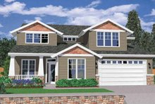 Craftsman Exterior - Front Elevation Plan #509-340