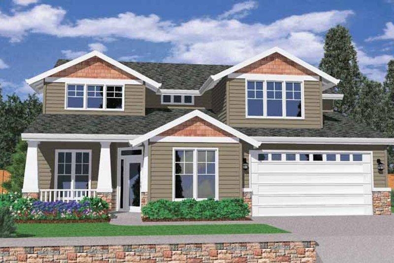 Craftsman Exterior - Front Elevation Plan #509-340 - Houseplans.com