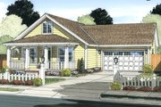 Cottage Style House Plan - 3 Beds 2 Baths 1277 Sq/Ft Plan #513-2093 Exterior - Front Elevation