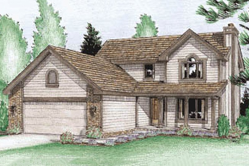 Traditional Exterior - Front Elevation Plan #20-227 - Houseplans.com