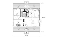 Country Floor Plan - Main Floor Plan Plan #56-697