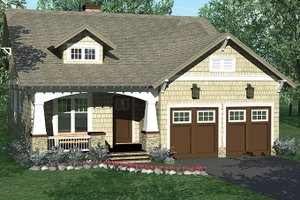 Architectural House Design - Craftsman Exterior - Front Elevation Plan #453-612