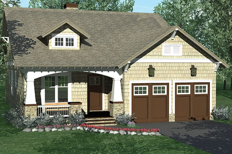 Architectural House Design - Craftsman Exterior - Front Elevation Plan #453-612