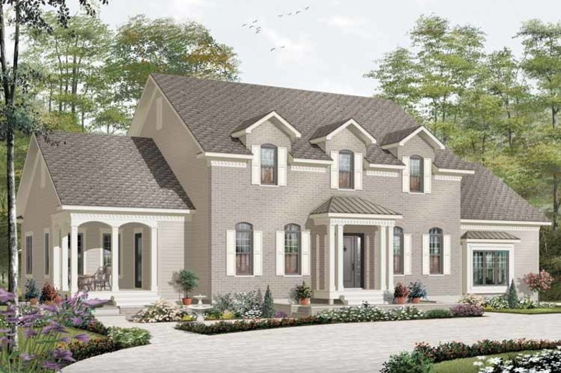 Traditional Exterior - Front Elevation Plan #23-2393 - Houseplans.com