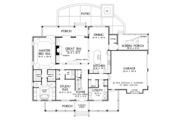 Traditional Style House Plan - 4 Beds 3.5 Baths 3133 Sq/Ft Plan #929-1017 Floor Plan - Main Floor