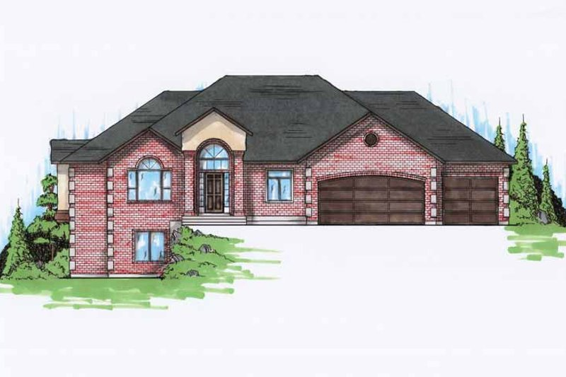 Traditional Exterior - Front Elevation Plan #945-93 - Houseplans.com