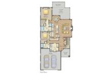 Craftsman Floor Plan - Main Floor Plan Plan #1057-16