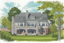 House Plan Design - Craftsman Exterior - Rear Elevation Plan #453-633