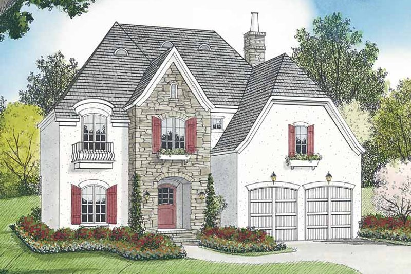 Country Exterior - Front Elevation Plan #453-441