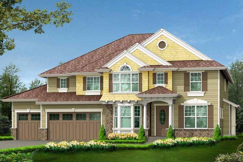 Craftsman Exterior - Front Elevation Plan #132-440 - Houseplans.com