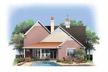 Dream House Plan - Contemporary Exterior - Rear Elevation Plan #929-845