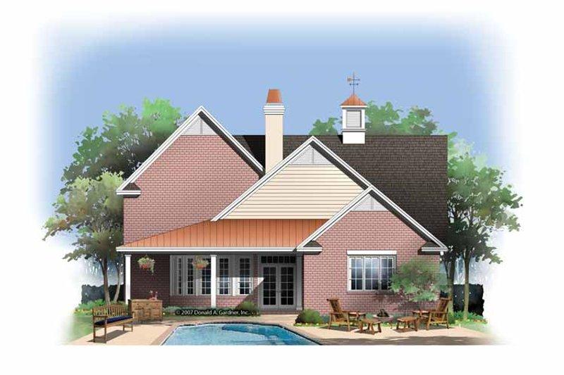 Contemporary Exterior - Rear Elevation Plan #929-845 - Houseplans.com