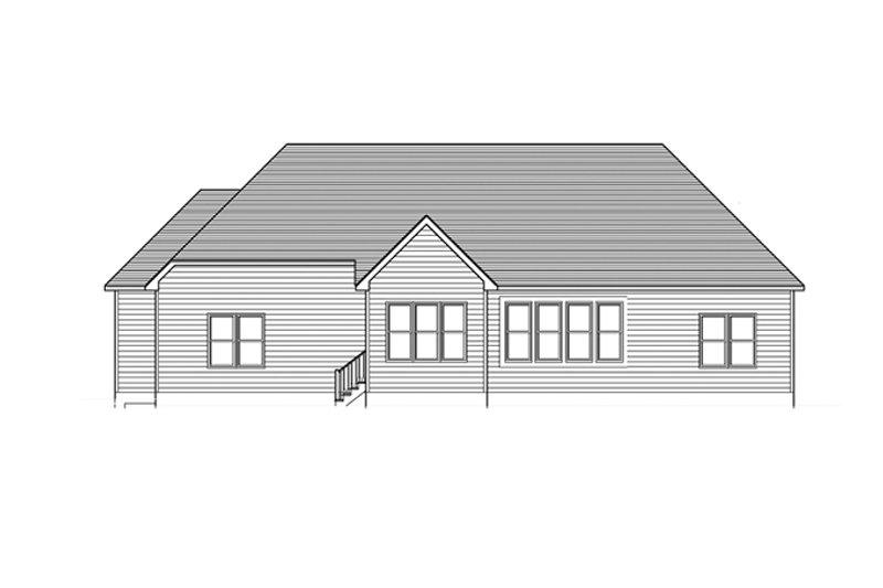 Ranch Exterior - Rear Elevation Plan #1010-108 - Houseplans.com