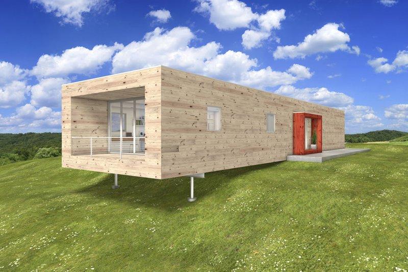 House Blueprint - Modern, Front elevation