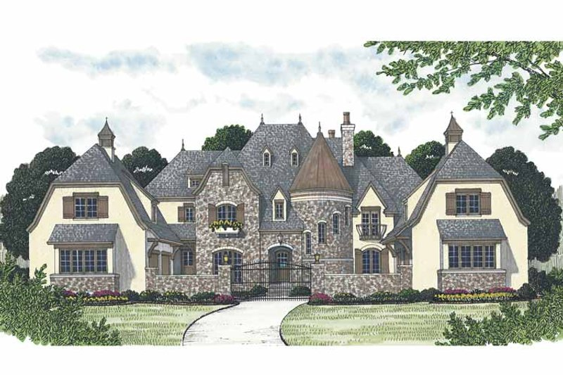 European Exterior - Front Elevation Plan #453-608 - Houseplans.com