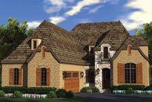 Home Plan - European Exterior - Front Elevation Plan #453-636