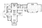 Craftsman Style House Plan - 4 Beds 3.5 Baths 3888 Sq/Ft Plan #928-239 Floor Plan - Main Floor Plan