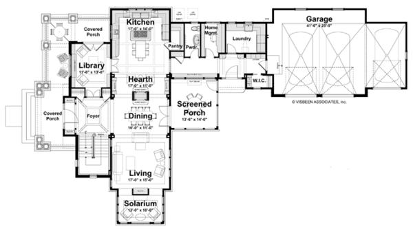Craftsman Floor Plan - Main Floor Plan Plan #928-239