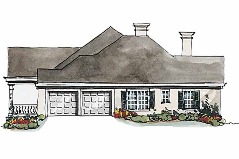 Classical Exterior - Other Elevation Plan #429-174 - Houseplans.com