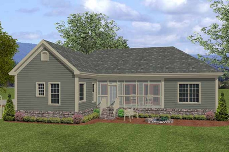 Traditional Exterior - Rear Elevation Plan #56-677 - Houseplans.com