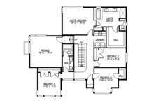 Contemporary Floor Plan - Upper Floor Plan Plan #132-564