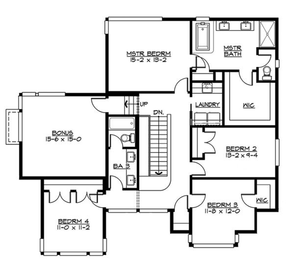 Contemporary Floor Plan - Upper Floor Plan Plan #132-564