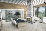 Contemporary Style House Plan - 3 Beds 2.5 Baths 2180 Sq/Ft Plan #924-1 Interior - Dining Room