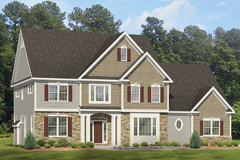 Colonial Exterior - Front Elevation Plan #1010-174 - Houseplans.com