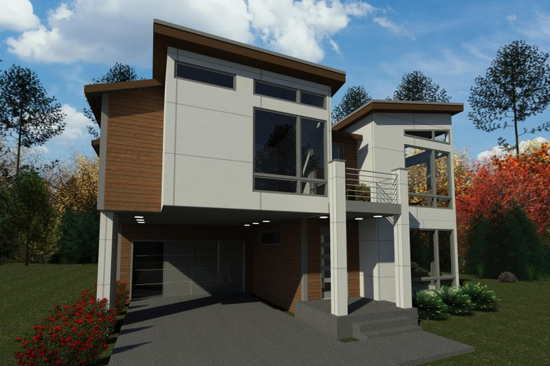 Dream House Plan - Contemporary Exterior - Front Elevation Plan #1066-126