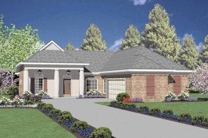 Classical Exterior - Front Elevation Plan #36-549 - Houseplans.com