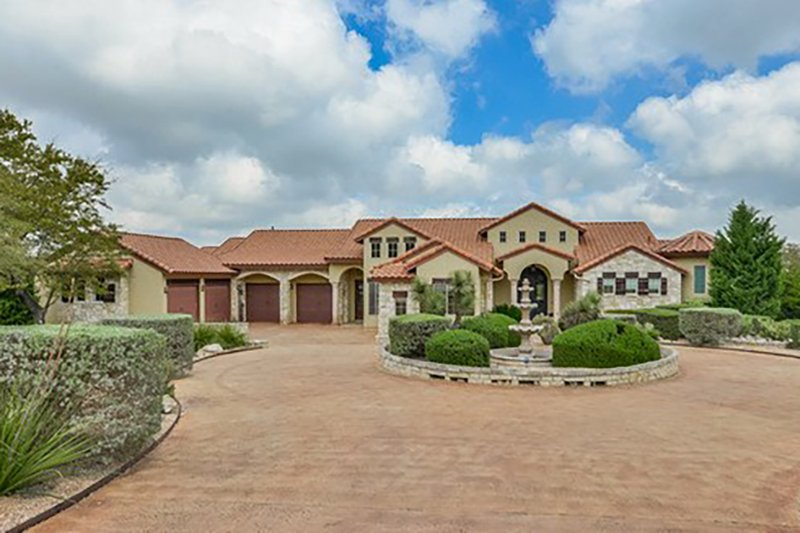 Mediterranean Style House Plan - 4 Beds 5 Baths 4320 Sq/Ft Plan #80-199 Exterior - Front Elevation
