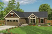 Ranch Style House Plan - 3 Beds 2 Baths 1621 Sq/Ft Plan #943-42 Exterior - Front Elevation