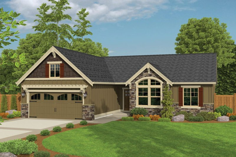 Ranch Exterior - Front Elevation Plan #943-42