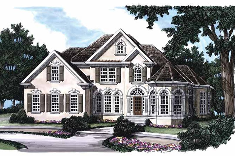 Mediterranean Exterior - Front Elevation Plan #927-386