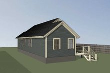 House Plan Design - Cottage Exterior - Rear Elevation Plan #79-144