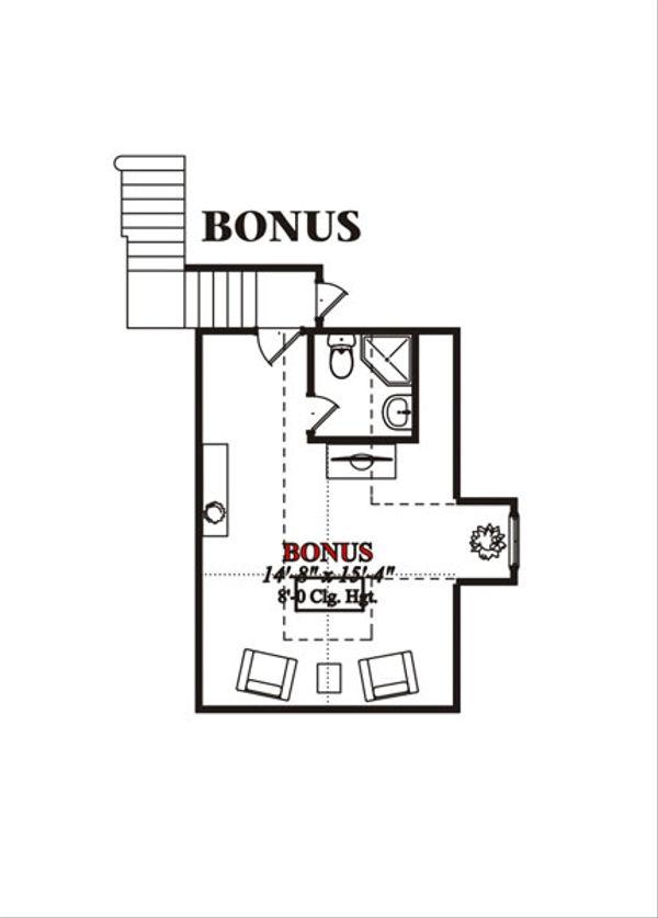 European Floor Plan - Upper Floor Plan Plan #63-216