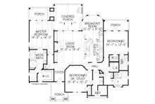 Craftsman Floor Plan - Main Floor Plan Plan #54-369