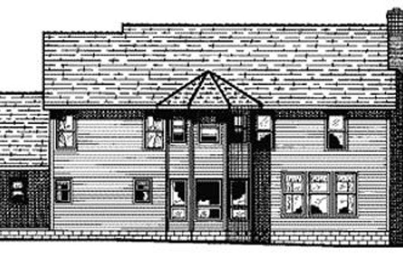 Traditional Exterior - Rear Elevation Plan #20-1095 - Houseplans.com