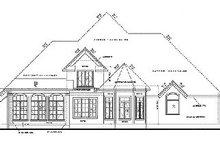 House Plan Design - European Exterior - Rear Elevation Plan #20-847