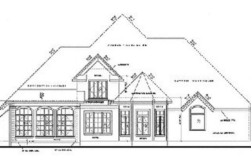European Exterior - Rear Elevation Plan #20-847 - Houseplans.com