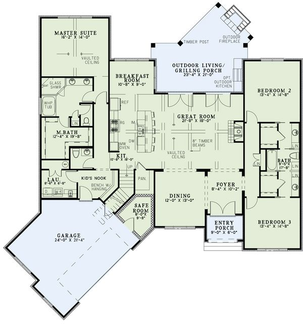 European Floor Plan - Main Floor Plan Plan #17-2522