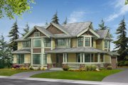Craftsman Style House Plan - 3 Beds 2.5 Baths 3130 Sq/Ft Plan #132-145 Exterior - Front Elevation