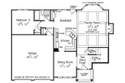 Colonial Style House Plan - 5 Beds 3 Baths 2361 Sq/Ft Plan #927-21 Floor Plan - Main Floor